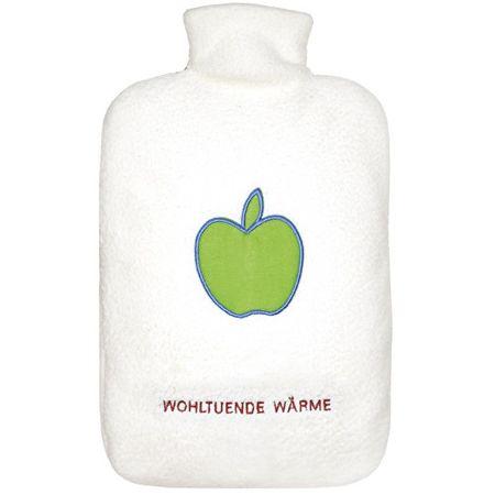 Hugo Frosch Termofor Eco Classic Comfort s krémovým fleecovým obalom - motív jablká