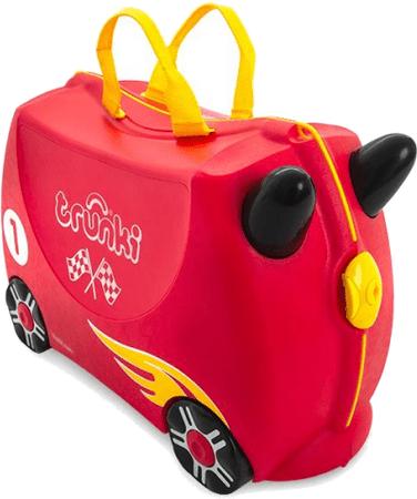 Trunki Kufrík + odrážadlo pretekárske auto Rocco