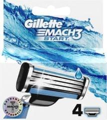 Gillette Mach3 Start hlavice k holícímu strojku 4 ks