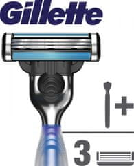 Gillette Mach3 Start Rukojeť ko holícímu strojku + 3 hlavice