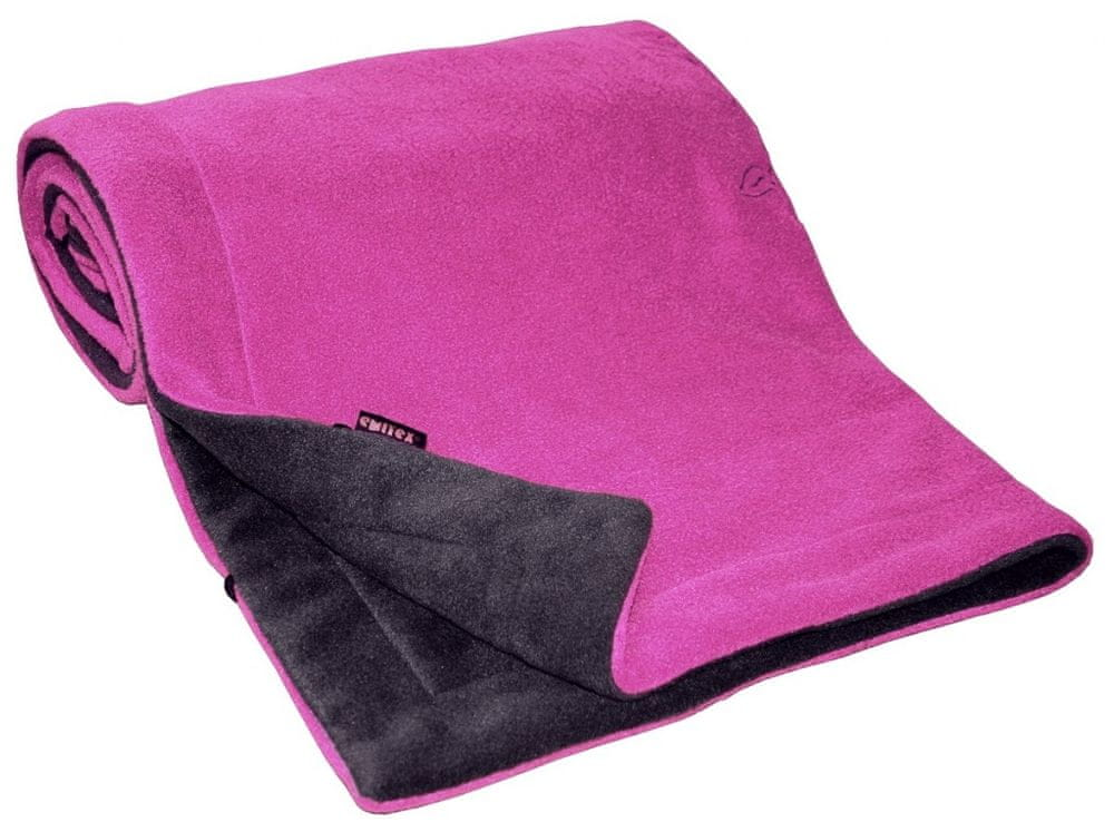Emitex Deka 70x100 fleece, antracit/fuchsie