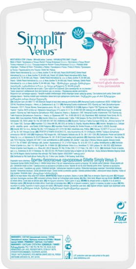 Gillette britvice za ženske Simply Venus 3, 8 kosov