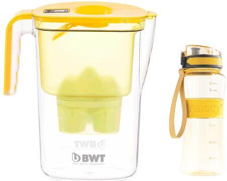 BWT Filtračná kanvica Vida + športová fľaša, žltá