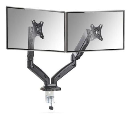 """VonHaus dvojni namizni nosilec za monitor do diagonale 68,6 cm (27""""), 2x USB"""