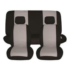 Finish Line prevleke za sedeže, 6 delne, sivo-črne