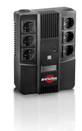Samurai Power brezprekinitveno napajanje AiO 600, Line-Interactive 600VA/360W