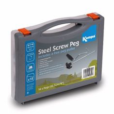 Kampa set klinov Steel Screw Peg Pack