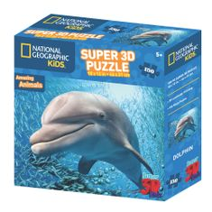 National Geographic sestavljanka 3D delfin, 150 kosov