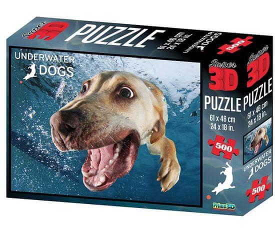Underwater Dogs slagalica 3D pas Bella 500 komada