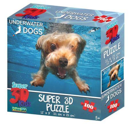 Underwater Dogs sestavljanka 3D pes Brady 100 kosov