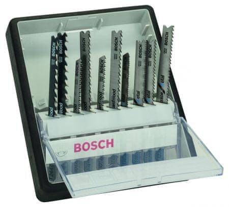 Bosch 10-delni komplet listov za vbodne žage Robust Line Wood and Metal, T-steblo (2607010542)