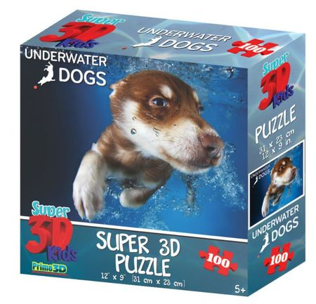 Underwater Dogs sestavljanka 3D pes Hunter 100 kosov