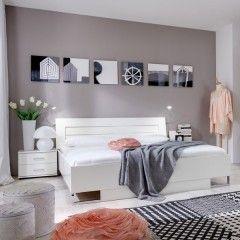Postelja DINA, 160 x 200 cm, bela