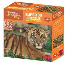 National Geographic sestavljanka 3D tiger 48 kosov