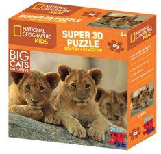 National Geographic sestavljanka 3D afriški levi 63 kosov