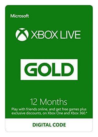 Microsoft Xbox Live Gold - 12 měsíců (S4T-00019)