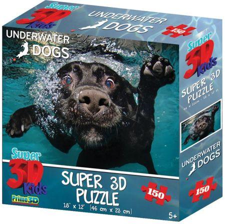 Underwater Dogs sestavljanka 3D pes Duchess 150 kosov