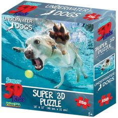 Underwater Dogs sestavljanka 3D pes Daisy, 150 kosov