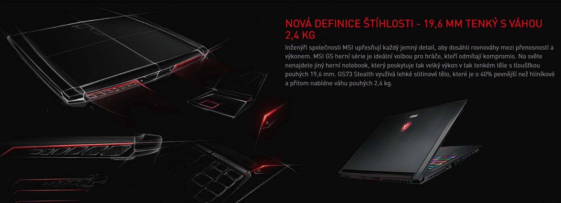 Nová definice štíhlosti - 19,6 mm tenký s váhou 2,4 kg