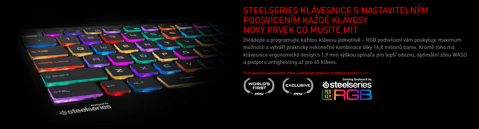 SteelSeries klávesnice