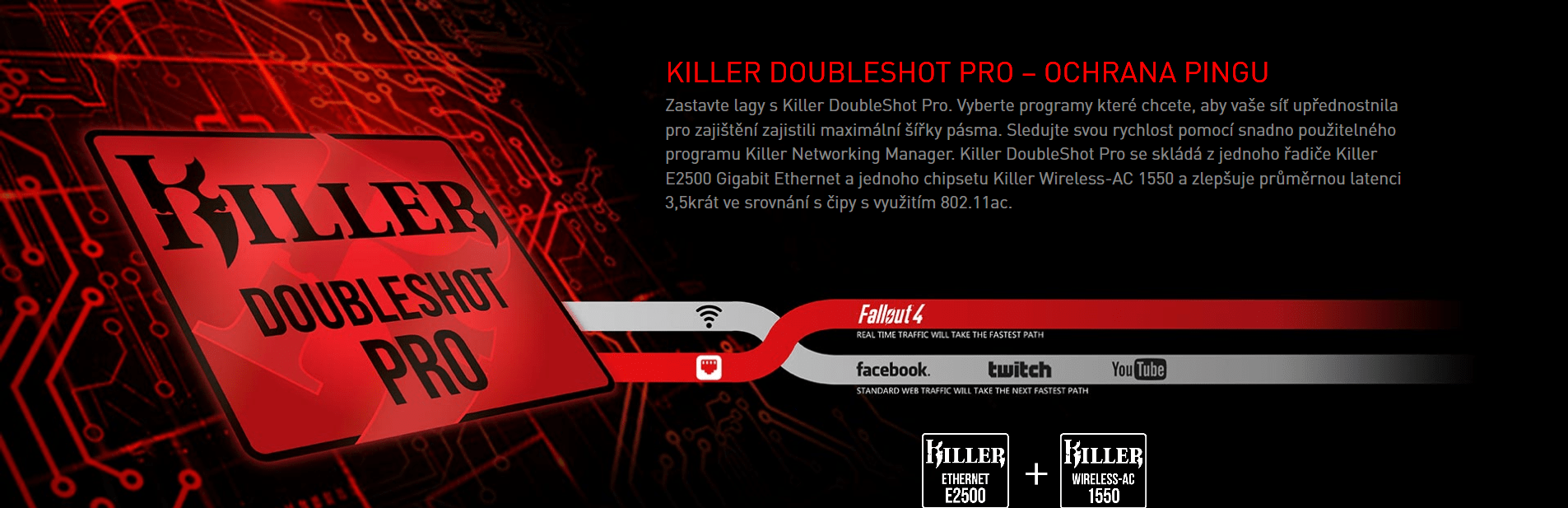 Killer DoubleShot Pro – Ochrana pingu