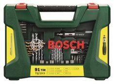 Bosch 91-delni komplet svedrov, vijačnih nastavkov in paličastim magnetom (2607017195)