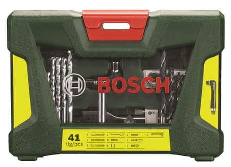 Bosch 41-delni komplet TiN svedrov in vijačnih nastavkov V-Line s kotnim vijačnikom (2607017316)