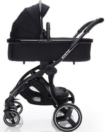 ZOPA otroški voziček Mystic, Black Noir/Black, črna