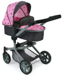 Bayer Chic kombiniran voziček MIKA, temno sivo/roza