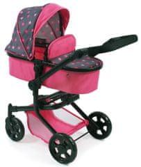 Bayer Chic kombiniran voziček MIKA, roza/siv