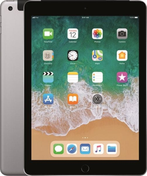 Apple iPad Wi-Fi + Cellular 32GB, Space Grey 2018 (MR6N2FD/A)