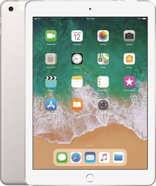 Apple iPad Wi-Fi + Cellular 32GB, Silver 2018 (MR6P2FD/A)