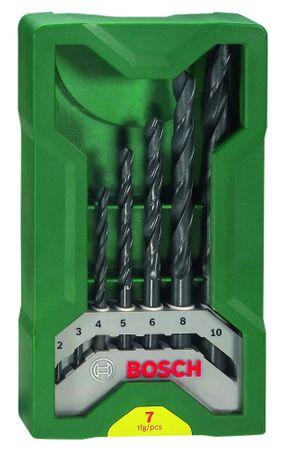 Bosch 7-delni komplet svedrov za kovino mini X-Line (2607019673)