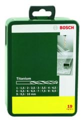Bosch 19-delni komplet svedrov za kovino HSS-TiN (2607019437)