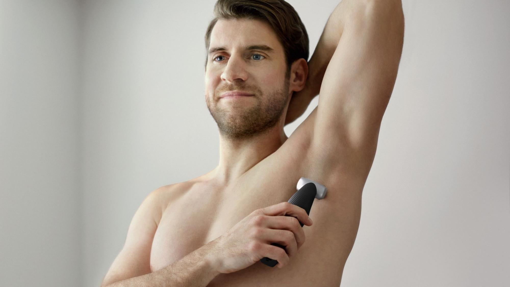 vodootporni brijač Philips BG5020/15 ne nadražuje osjetljive dijelove kože