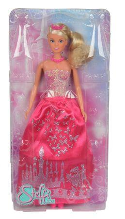 SIMBA Steffi baba hercegnő, csillogó ruha, rózsaszín