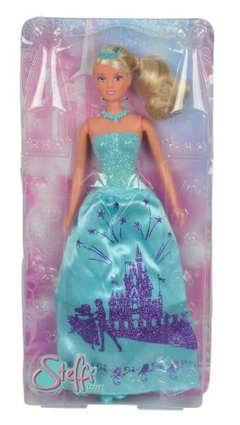 Simba Panenka Steffi Princezna, třpytivé šaty,modrá