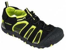 Loap DOPEY dětské sandály black/lime