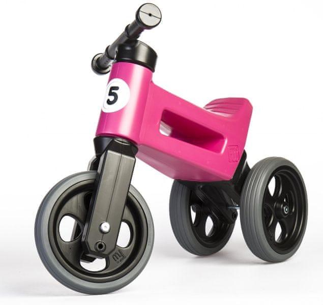 Teddies Odrážedlo Funny Wheels New Sport 2v1 růžová