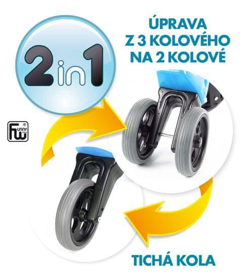 Teddies Funny Wheels New Sport 2v1 trikolesnik, vijolična - Odprta embalaža