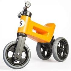Teddies Funny Wheels New Sport 2 az 1-ben pedál nélküli gyerekkerékpár, narancssárga