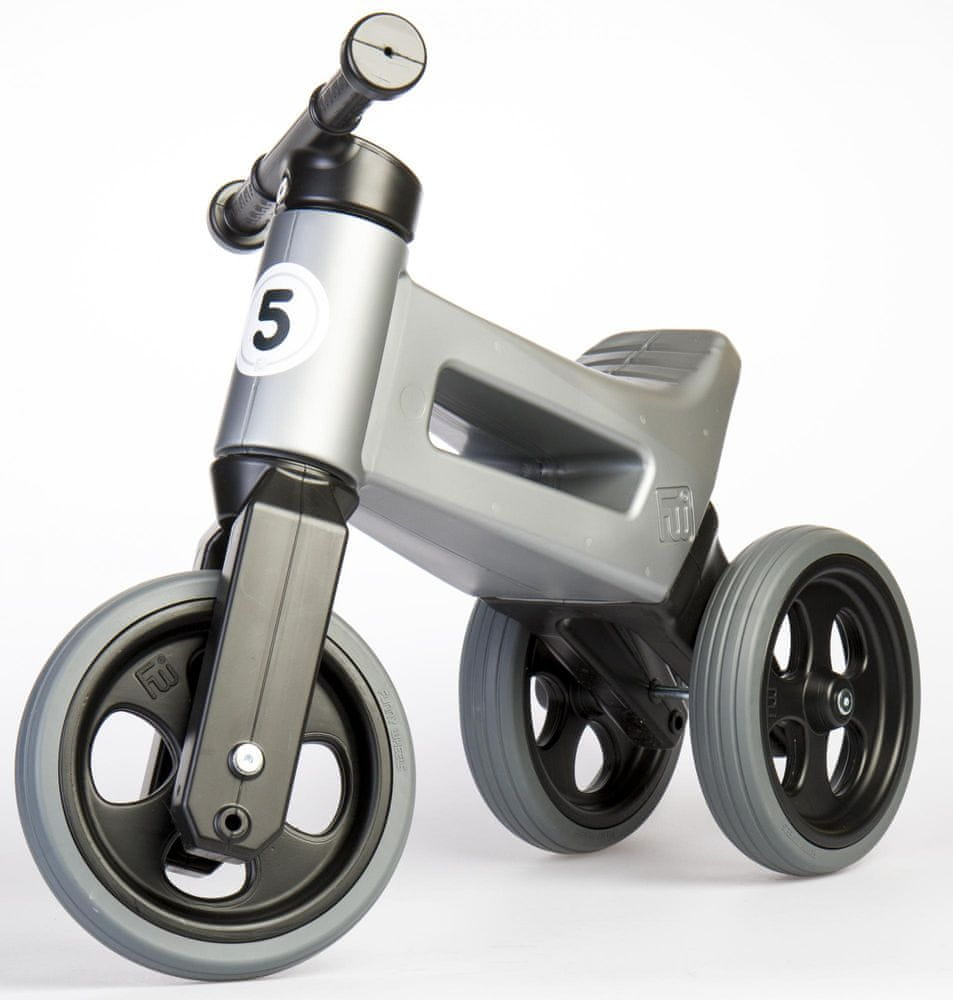 Teddies Odrážedlo Funny Wheels New Sport 2v1 šedá