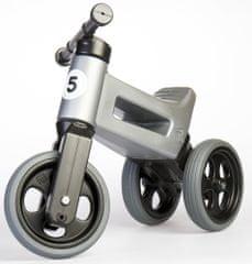 Teddies Funny Wheels New Sport 2 az 1-ben pedál nélküli gyerekkerékpár, szürke