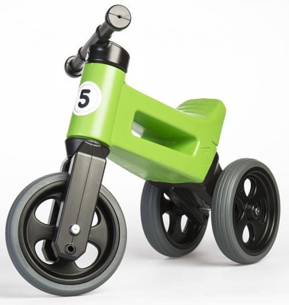 Teddies Odrážedlo Funny Wheels New Sport 2v1 zelená