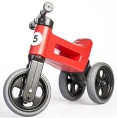Teddies Funny Wheels New Sport 2 az 1-ben pedál nélküli gyerekkerékpár, piros