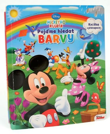 Disney Walt: Mickeyho klubík - Pojďme hledat barvy - Leporelo s okénky