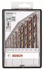 Bosch 10-delni komplet svedrov za kovino Robust Line HSS-Co (2607019925)