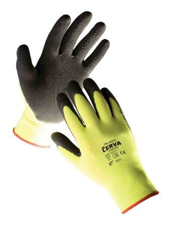 Červa Pracovné rukavice Palawan žltá  9