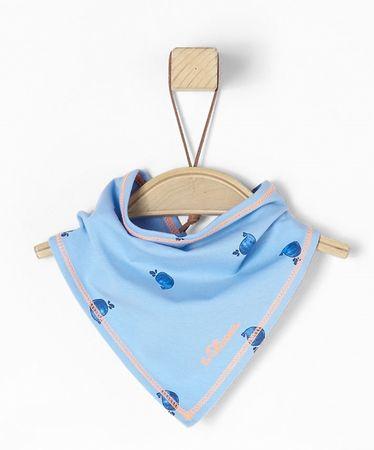 s.Oliver dievčenská šatka UNI modrá