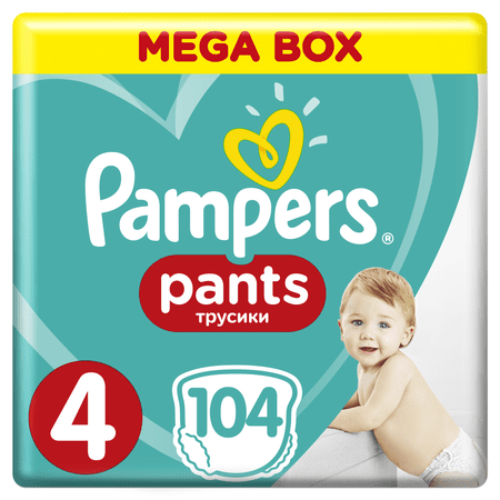 Pampers Plenkové kalhotky ActivePants 4 Maxi Mega Box 8-14 kg, 104 ks